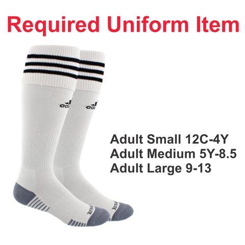 Rage SC - Adidas Copa Zone White Sock - Required Uniform Item