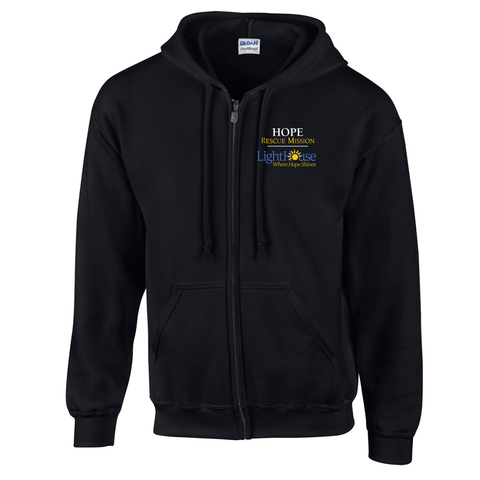 HOPE RESCUE - FULL ZIP HOODED SWEATSHIRT