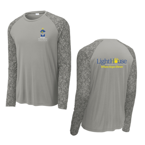 HOPE RESCUE - LONG SLEEVE CAMO TECH SHIRT