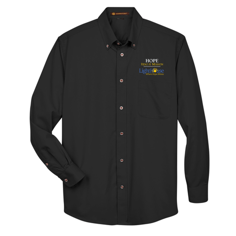 HOPE RESCUE - LONG SLEEVE BUTTON UP TWILL