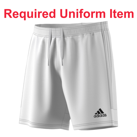 Rage SC - Adidas Tastigo 19 White Shorts - Required Uniform Item