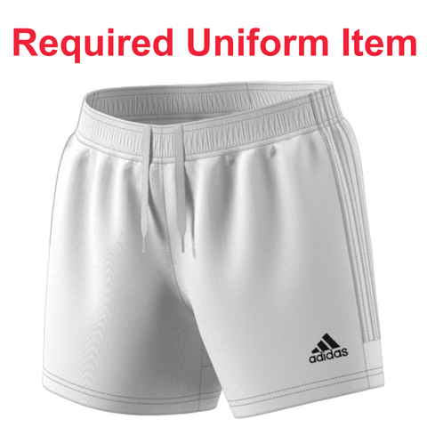 Rage SC - Adidas Women's Tastigo 19 White Shorts - Required Uniform Item