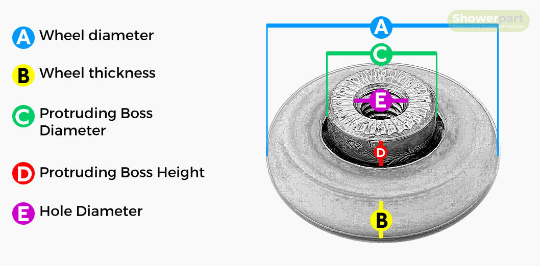 Shower Door Wheel Diagram