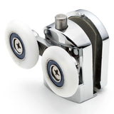 2 x Spring Loaded Double Bottom Shower Door Rollers/Runners/ Guides/Wheels diameter 25mm A5