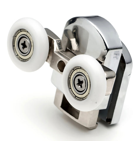 2 x Bottom Double Shower Door Rollers/Runners/Wheels Replacements 23mm or 25mm Wheel Diameter A6