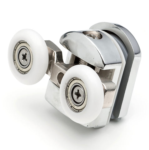 2 x Top Double Shower Door Rollers/Runners/Wheels Replacements 23mm or 25mm Wheel Diameter A6