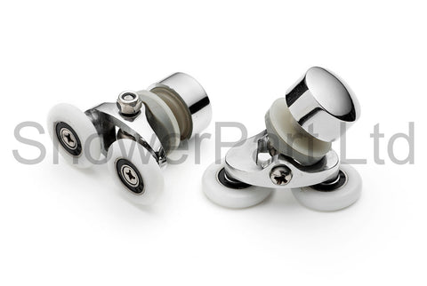 2 x Twin Top Shower Door Rollers/Runners 23mm Wheel Diameter A7