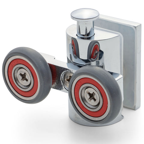 1 x  Double Shower Door Rollers/Runners/Wheels 21mm Wheel Diameter AT11