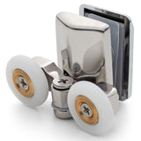 1 x Chrome Plated Bottom Double Shower Door Roller/Runner 23mm Wheel Diameter AT8