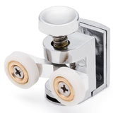 2 x Twin Bottom Shower Door Rollers/Runners/Wheels 18.2mm Wheel Diameter B3