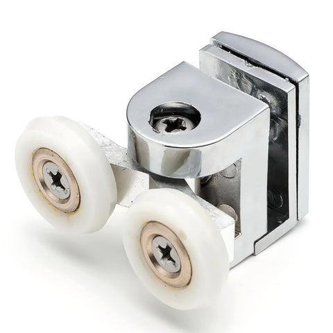 2 x Twin Top Shower Door Rollers/Runners/Wheels 22mm Wheel Diameter B3