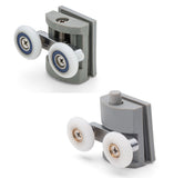 --Set of 2 Shower Door Rollers/Runners 23mm or 26mm Wheel Diameter Top & Bottom BE-M04