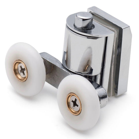 --Set of 2 Zinc Alloy Shower Door Rollers / Runners / Wheels Top and Bottom 26mm Wheel Diameter BE-M05