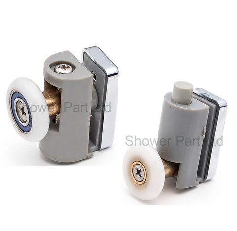 Set of 4 Single Shower Door Rollers/Runners/Wheels 20mm or 23mm Wheel Diameter BE-M16
