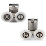 --Set of 2 Rollers / Runners For Shower Doors Spring Loaded 26mm Wheel Diameter BE-MS14