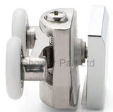--Set of 2 Double Shower Rollers /Runners / Wheels Replacement 23mm Wheel Diameter BE-MS08