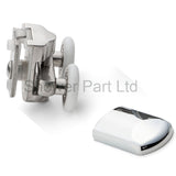 --Set of 2 Double Shower Rollers/Runners/Wheels Replacement 23mm Wheel Diameter BE-MS10