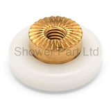 4 x Shower Door Rollers/Runners/Guides Flat Edge 17.5mm Wheel Diameter C2