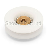 4 x Shower Door Rollers/Runners/Wheels 24.3mm Wheel Diameter Diameter Grooved C3