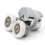 1 x Double Top Zinc Alloy Shower Door Rollers/Runners 21mm Wheel Diameter Merlyn E4