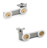 Set of 2 Top and Bottom shower door rollers/runners 28mm Wheel Diameter ERM2