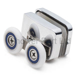 Set of 2 Shower Enclosure Door Top and Bottom Rollers/ Runners 23mm wheels dia F23