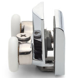 1 x Chrome Plated Bottom Double Shower Door Roller/Runner 21mm Wheel Diameter IS2