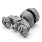 2 x Twin Shower Door Rollers/Runners/Wheels 20mm Wheels Diameter JI1