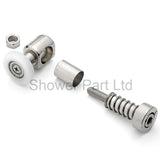 1 x Replacement Bottom/Lower Shower Door Rollers/Runners/Wheels 25mm Wheel Diameter K020
