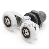 2 x Twin Shower Door Rollers/Runners/Wheels 19.5mm, 23mm, 25mm or 27mm K049