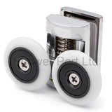 Set of 2 Top and Bottom Zinc Alloy Shower Door Rollers/Runners/Wheels 28mm Wheel Diameter K052