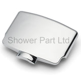 1 x Chromed Shower Door Block/ Cover for KH2 Three wheel Roller Unit KH2-1