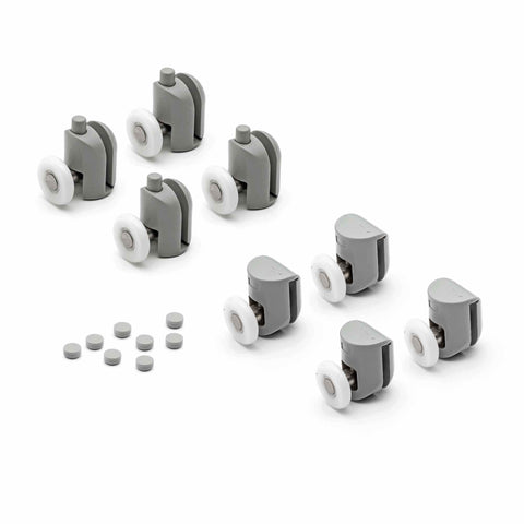 Set of 8 Single Shower Door Rollers/Runners/Wheels/Pulleys 19mm, 23mm or 25mm Wheel Diameter L001