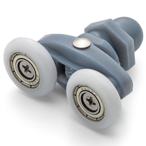 2 x Twin Shower Door Rollers/Runners/Wheels Spare parts 20mm, 22mm, 23mm, 25mm Wheel Diameter L006