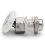 4 x Swivel Single Shower Door Rollers Pulley 23mm or 25mm Wheel Diameter L014