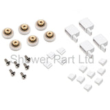 6 x Shower Door Rollers/Runners/Wheels 19mm Wheel Diameter L018