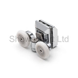 Set of 4 Double Shower Door Rollers/Runners/Wheels Top and Bottom 23mm Wheel Diameter L067-L020