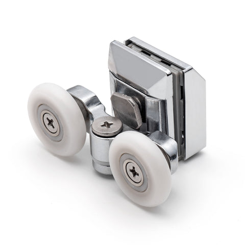 2 x Twin Top Zinc Alloy Shower Door Rollers/Runners/Wheels 20mm or 23mm Wheel Diameter L020