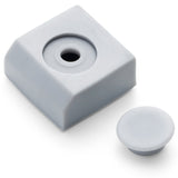 4 x Shower/Bathroom Door Square Plastic Rubber Orientation Blocks Stops L022