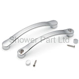 Shower/Bath Door Handle Chrome Effect 127mm distance L4