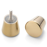 Shower Door Handle/Knob Chrome or Gold Zinc Alloy Cone Shaped High Quality L050
