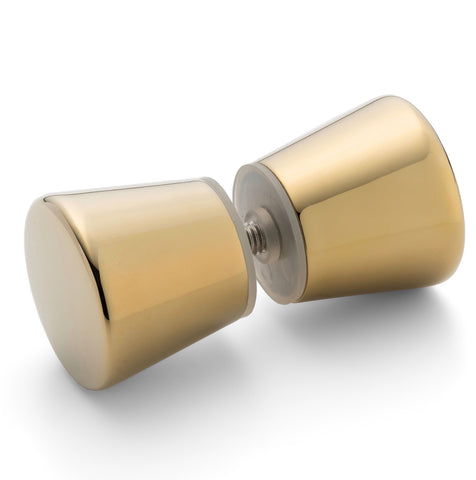 --DISCOUNTED WHOLESALE JOB LOT 50 X  Shower Door Handle/Knob Gold Zinc Alloy Cone Shaped High Quality L050