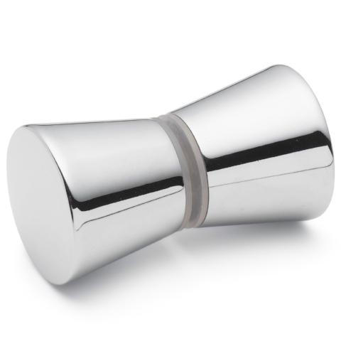 WHOLESALE JOB LOT X 100 Shower Door Handle/Knob Chrome Zinc Alloy Cone Shaped High Quality L050