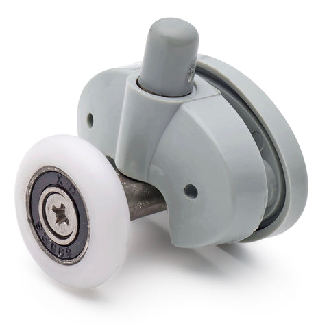 2 x Single Bottom Butterfly Shower Door Rollers/Runners/Wheels 23mm or 25mm Wheel Diameter L051