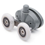 2 x Double Bottom Butterfly Shower Door Rollers/Runners/Wheels 23mm or 25mm wheel diameter L056