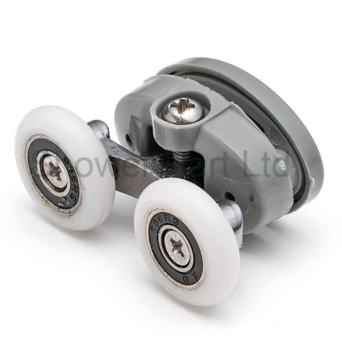 2 x Twin Top Butterfly Shower Door Rollers/Runners/Wheels 23.3mm or 25mm Wheel Diameter L056