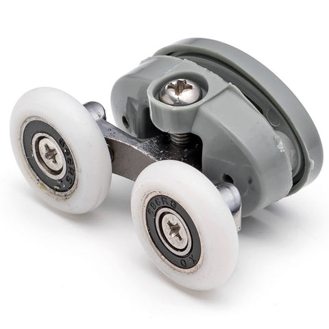 2 x Twin Top Butterfly Shower Door Rollers/Runners/Wheels 23mm or 25mm Wheel Diameter L056