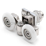 2 x Twin Top Zinc Alloy Shower Door Rollers/Runners/Wheels 20mm, 23mm or 25mm Wheel Diameter L057
