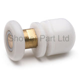 4 x Shower Rollers/Runners /Wheels /Pulleys Offset Pole 19mm, 23mm, 25mm or 27mm Wheel Diameter L060