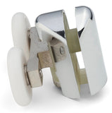 2 x Chromeplate Top Double Shower door Rollers/Runners/Wheels 23mm or 25mm Wheel Diameter L061
